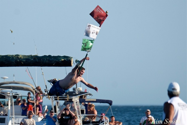 Kyle Barry Sunday Greasy Pole Champion 2016 copyright Kim Smith