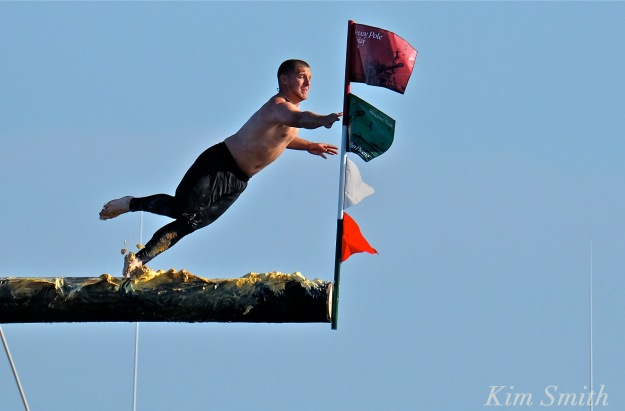 Michael Sanfillipo Friday Greasy pole Champion 2016 -1 copyright Kim Smith