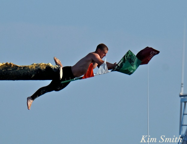 Michael Sanfillipo Friday Greasy pole Champion 2016 -2 copyright Kim Smith